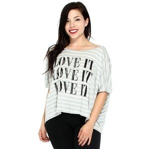 """""""Love It"""" Striped Summer Shirt In A Loose Fit"""